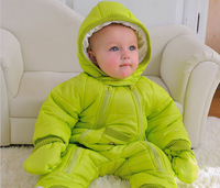 Free Shipping! 2014 New style Winter autumn newborn baby snowsuit ,baby winter coveralls, warm jacket, infant snowsuit