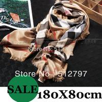 Classic plaid scarf high quality women's cashmere scarves,brand scarf,180X80cm