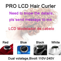 High quality New 2014 styling tools LCD hair curler roller perfect styler curling brushless motor and temperature 6 grade conair