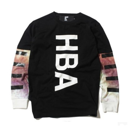 harajuku mens 2014 hiphop fashion couple clothes citi trends clothes brand tie dye long sleeve tee shirts hood by air hba(China (Mainland))