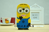 For HTC One Dual Sim, Rubber Silicone Case Despicable Me Yellow minion Cover Case For HTC One M7 Dual Sim Case,802t /802d/802w
