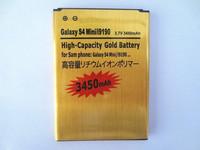 1pcs For Galaxy S4 Mini i9190 I9192 I9195 I9198 B500AE battery 3.7V 3450mAh High Capacity Gold Battery