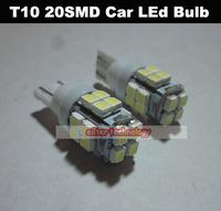 Wholesale T10 20SMD Car Led Bulb Led Wedge Bulb 194 168 192 W5W Parking Light 500PCS/lot