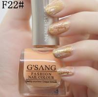 china gsang famous brand nude crack nail polish F22# free ship 2pcs glaze nail lacquer shatter crackle nail polish bulk lot
