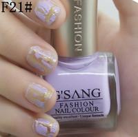 china gsang famous brand nude crack nail polish F21# glaze nail lacquer free ship 2pcs shatter crackle nail polish bulk lot