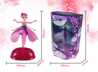 Hot!!!! Best Christmas gift infrared induction control flying dolls Flying Fairy