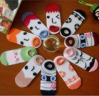 Freakish Cartoon novelty cute funny Boat socks women calcetines mujer meias  femininas Ship sock meia masculinas ankle sox lot