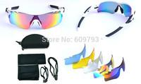 2015 New Radarlock Path Polarized sun glasses coating sunglass for women man sport cycling bicycle sunglasses glasses 5 lens