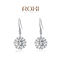 2015 ROXI Brands Fashion Women Cubic Zirconia Clear Earrings New Arrival Wholesale Fashion Jewelry Party Gifts HAI