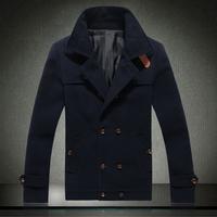 Free shipping famous brand plus size XXL 4xl 5xl 6xl Winter fashion coat wool woolen design thick slim mens winter jackets coats