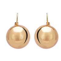 New Fashion Big Exaggerated Gold Plated Round Pendant Statement Dangle Earrings Bijoux for Women Men