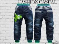 Winter Warm KK-Rabbit Brand Boys Kids Warm Jeans Thick Cashmere Pants Boys Winter Jeans Fit 2-7yrs Children 1494 New Hot Sale