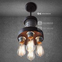 Designer lamps restaurant bar American country European industrial wind pipe chandelier creative minimalist modern space