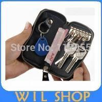New Genuine Cow Leather Purse Car Key Wallets Fashion Women Housekeeper Holders keychain bag