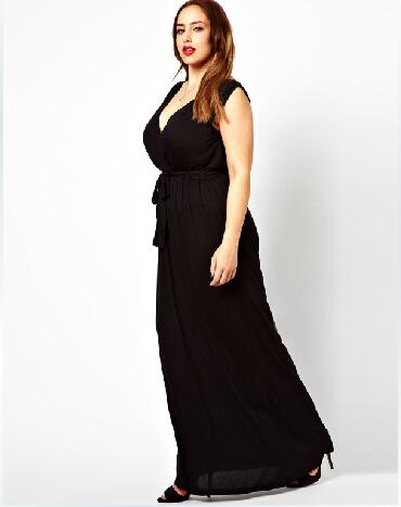 Женское платье v/5xl 6XL Vestidos 4XL 3045 дрель black