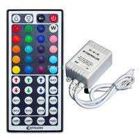 10pcs/lot rgb ir 44 key led controller DC5V 12v - 24v for 5050/3528 led strip light and RGB LED module