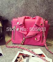 New Arriving Pink Cloth Handbag