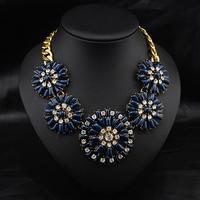Aliexpress Wholesale Europe Style Fashion Brand Jewelry perfume Women Costume Flower Choker Pendant statement necklace