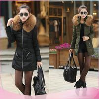 Top quality Womens plus size winter coats winter jacket women luxury brand jacket fur-trimmed winter down jacketS size L,XL,XXL