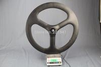Tri-spoke Wheel Clincher Full Carbon Fiber 3K Matte Warranty 1 year New Sale Track Bike Wheel Rear