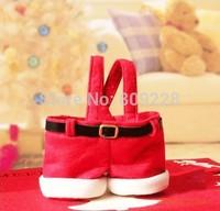 5PCS Wholesale Handbag Candy Pouch Bag Wedding Sack Present Gift Bag Girl Lady Christmas Decoration Cute Santa christmas gift