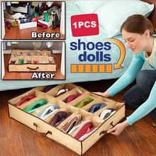 Free shipping 12 Pairs Fabric Intake Organizer Holder Shoes Box    K5BO(China (Mainland))