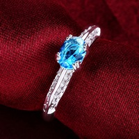 2014 New!! Wholesale Silver Plated Crystal Rings,Fashion Silver Crystal Rings,Valentine's Day Best Gift,Fashion Jewelry,KNR627