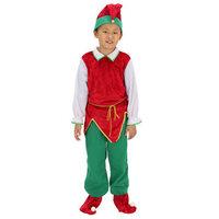 New Year Winter Warm Elf Santa Claus Christmas Costumes For Boy Kids Chlidren