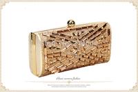 Women's Hot Sale New Luxurious Rhinestone Evening Bag Crystal Hard Bridal Clutch Wholesale Free shipping