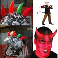 new Motorcycle helmet ornament devil horns personality angle / punk hair / Roman knight cherry / explosion head helmet ornament