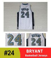 Los Angeles #24 Kobe Bryant White Signed Basketball Jersey Free Shipping