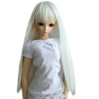 "[wamami] 11# Cute Fashion White Straight Wig 1/3 SD AOD DOD BJD Dollfie 8-9"""