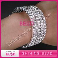 fashion bling clear rhinestone bracelet,free shipping,30pcs/lot,rhinestone bangles for women