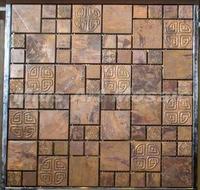 [Mius Art Mosaic] Big square ripple Copper tile in bronze brushed for kitchen backsplash wall tile A6YB120