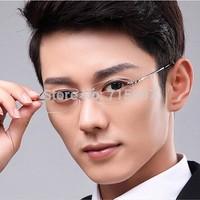 Men's Business myopia rimless glasses memory titanium flexible men's eyeglasses prescription spectacle optical frame