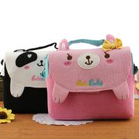 Fabric cartoon child messenger bag child cloth tote bag