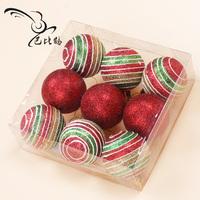Bobby 5cm Maroon powder colored drawing ball christmas ball christmas tree decoration ball 6 3 box