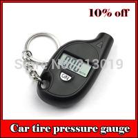 mini digital car tire tyre pressure gauge with key chain auto portable