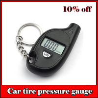 mini digital car tire tyre pressure gauge with key chain auto portable