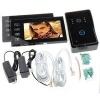 """New 7"""" TFT Touch Screen Video Door Phone Camera Intercom Night Vision Door Bell,1x Outdoor camera+2x Indoor monitor"""