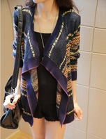 2014 new women's loose big yards sweater shawl cardigan thin coat and long sections