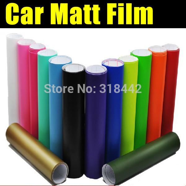 30cmX1.52m Matte car wrap vinyl with high quality PVC film by free shipping(China (Mainland))