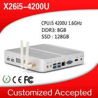 intel core i5 mini pc windows embedded, X26-i5 4200U 12v mini pc HDMI 1080P RJ45 wireless, wifi,mini pc windows 7 , 128GB SSD