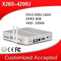 2014 New Mini Computer i5 4200U Dual Core 1.6Ghz Windows 7 WIFI USB 3.0 8G RAM 320G HDD intel core i5 Mini PC