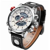 WEIDE Men's Fashion Casual Sports Watch Quartz Digital LED Back Light Military relogio masculino 30m Waterproof Men Watches