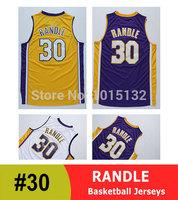 Los Angeles #30 Julius Randle Basketball Jersey White, Yellow, Purple Free Shipping