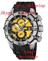 New 2014 F16600-5  Mens Tour De France Chronograph Bike  Black Rubber Watch Original Box
