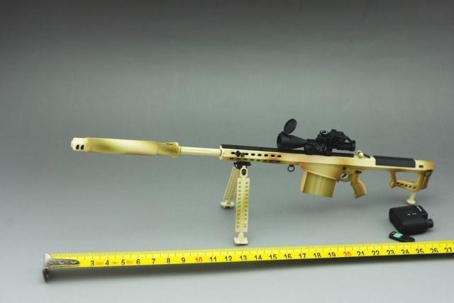 1:6 soldier Barrett M82A1 sniper gun metal model M107A1/M82A1 Barrett(China (Mainland))