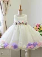 Spring 2015, the new fashion clothes Summer night acting south Korean exports petals children's princess dress dress