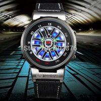 5PCS/lot,DHL Freeshipping TVG X6 Men LED Analog Wheel Waterproof Sport Leather Wrist Watch with original package